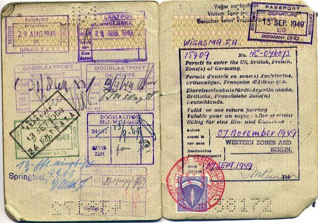 Passeport ancien